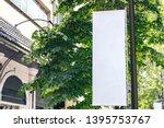 billboard mockup outdoors  lamp ... | Shutterstock . vector #1395753767