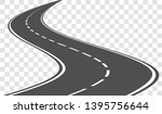 vector winding road isolated on ... | Shutterstock .eps vector #1395756644