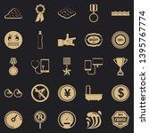 sample icons set. simple set of ... | Shutterstock .eps vector #1395767774