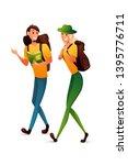 tourism flat vector... | Shutterstock .eps vector #1395776711