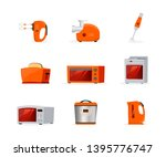 kitchen appliances flat vector... | Shutterstock .eps vector #1395776747