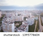 city downtown horizon in sunny... | Shutterstock . vector #1395778604