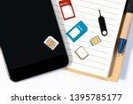micro sim and nano sim... | Shutterstock . vector #1395785177