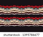 ikat border. geometric folk... | Shutterstock .eps vector #1395786677