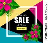summer sale vector template...   Shutterstock .eps vector #1395792677