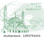 """eid mubarak"" background design ... | Shutterstock .eps vector #1395793241"