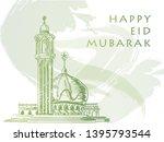 """eid mubarak"" background design ... | Shutterstock .eps vector #1395793544"