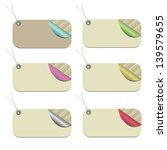 set of modern striped tags with ... | Shutterstock .eps vector #139579655