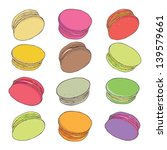 set of colorful macaroons... | Shutterstock .eps vector #139579661