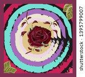 square flower arrangement.... | Shutterstock .eps vector #1395799007
