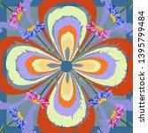square flower arrangement.... | Shutterstock .eps vector #1395799484