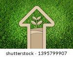 saving tree. paper cut of eco... | Shutterstock . vector #1395799907