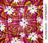 square flower arrangement.... | Shutterstock .eps vector #1395804647