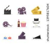 cinematography items vector...   Shutterstock .eps vector #1395817604