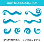 vector wave icons  set of...   Shutterstock .eps vector #1395821441