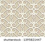 vintage beige lace texture ...   Shutterstock .eps vector #1395821447
