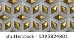 3d tiles gray rhombuses and... | Shutterstock . vector #1395824801