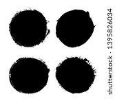 brush strokes set isolated... | Shutterstock .eps vector #1395826034