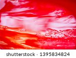 red plastic surface in water ... | Shutterstock . vector #1395834824