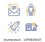 startup rocket  group and mail... | Shutterstock .eps vector #1395835637