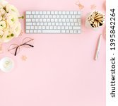 stylized  pink women's home... | Shutterstock . vector #1395842264