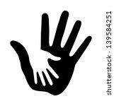 caring hand  raster illustration | Shutterstock . vector #139584251