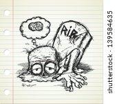 cartoon zombie in doodle style | Shutterstock .eps vector #139584635