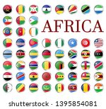 collection of flags from all... | Shutterstock .eps vector #1395854081