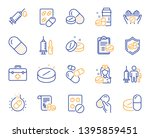 Medical Drugs Line Icons....