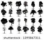 tree silhouettes on white... | Shutterstock .eps vector #1395867311