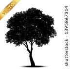 tree silhouettes on white... | Shutterstock .eps vector #1395867314