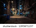 Chicago Downtown Alley At Night