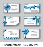 set of beautiful cards with...   Shutterstock .eps vector #139587491