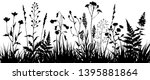 black silhouettes of meadow...   Shutterstock .eps vector #1395881864