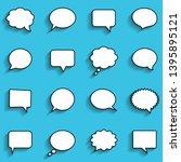blank empty white speech bubbles | Shutterstock .eps vector #1395895121