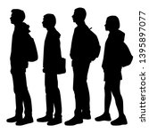 set of vector silhouettes of ... | Shutterstock .eps vector #1395897077