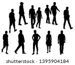 vector silhouettes men and... | Shutterstock .eps vector #1395904184