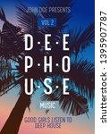 deep house music concert flyer  ... | Shutterstock .eps vector #1395907787