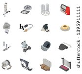car part icons set. isometric... | Shutterstock .eps vector #1395911111