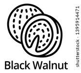 black walnut icon. outline...