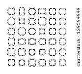set of black frameworks... | Shutterstock . vector #139594949