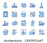 cleaning line icons. laundry ... | Shutterstock .eps vector #1395951647