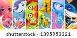 fish and sea animals. shark ...   Shutterstock .eps vector #1395953321