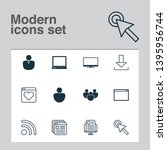 internet icons set with tabs ...   Shutterstock .eps vector #1395956744