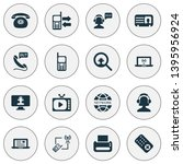 communication icons set with... | Shutterstock .eps vector #1395956924