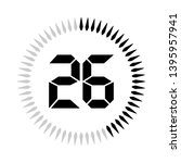 the 26 minutes or seconds ... | Shutterstock .eps vector #1395957941
