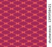 diamond grid seamless pattern.... | Shutterstock .eps vector #1395958421