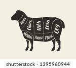 cut of meat  lamb. poster... | Shutterstock .eps vector #1395960944