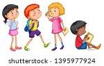 set of student character...   Shutterstock .eps vector #1395977924
