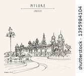 mysore  mysuru   karnataka ...   Shutterstock .eps vector #1395984104